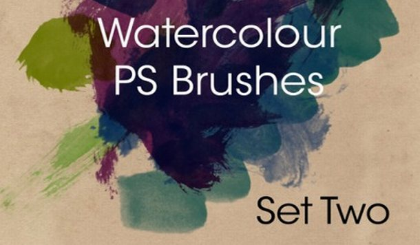 Hi-Res Watercolor Brushes - Photoshop Brushes