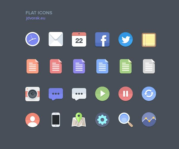 Free Flat Icons by Jan Dvorak